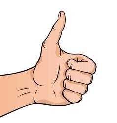 Cartoon thumbs up vector