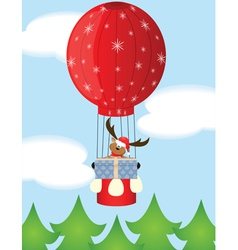 Christmas balloon vector