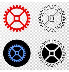 clock gear eps icon with contour version vector image
