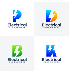 collection letter electirc logo vector image