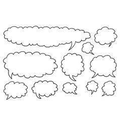 comic speech text bubbles set04 vector image