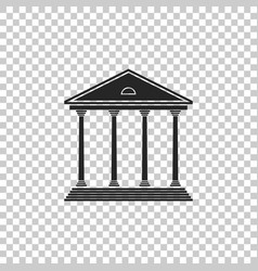 Courthouse building icon isolated vector