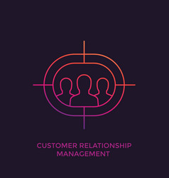 crm customer relationship management linear icon vector image