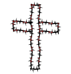cross silhouette vector image