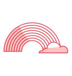Cute fantacy rainbow icon vector