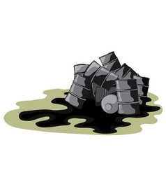 Dangerous leak for the environment vector
