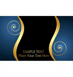 decorative card or invitation vector image