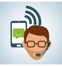 design of call center editable vector image