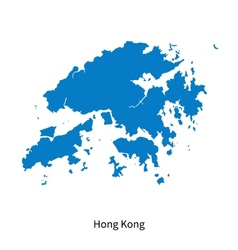 Detailed map of Hong Kong vector image