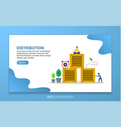 distribution concept with tiny people character vector image