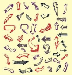Doodles arrows vector
