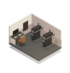 empty cinema projectionist room vector image