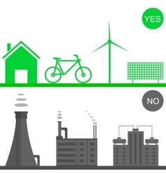Environmental pollution vector image
