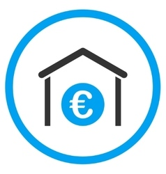 Euro Garage Rounded Icon vector