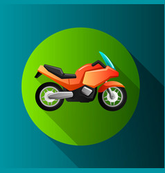 flat design moto icons vector image