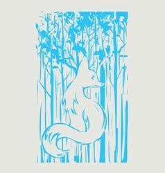 Fox and tree vector image
