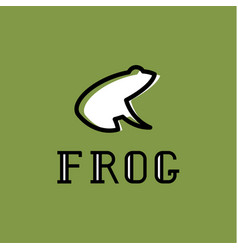 frog logo sign mark trend vector image