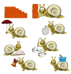funny snail vector image