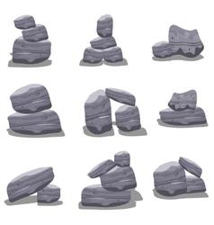Gray rock style art vector