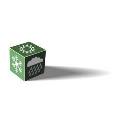 Green weather cube vector image