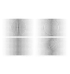 Halftone convex circle dots backgrounds vector