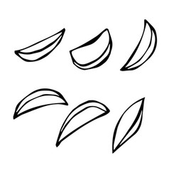 Hand drawn of potato wedges vector