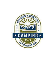 Icon for camping outdoor adventure vector