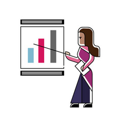 Indian woman doing business presentation vector