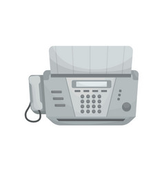 isolated fax vector image