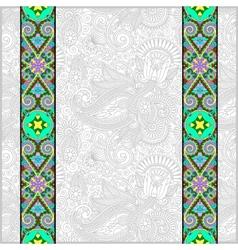 lace border stripe in ornate floral background vector image