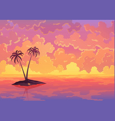 landscape banner evening or morning view sunset vector image