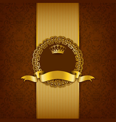 Luxury background with ornament frame vector image