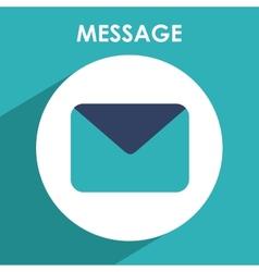 message icon vector image