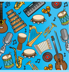 Musical instruments icon vector