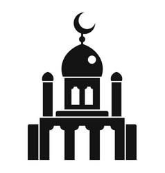 Muslim mosque icon simple style vector
