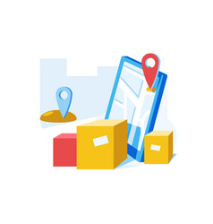 online delivery service vector image