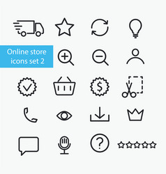online store icons vector image vector image