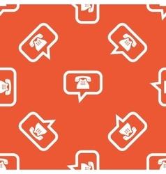 Orange phone message pattern vector image