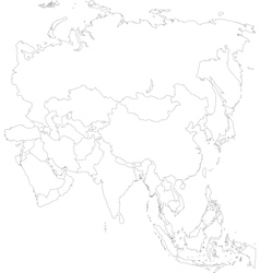 Outline Asia map vector