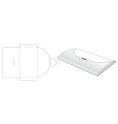 Paper envelop bag die cut template design vector