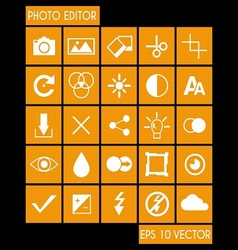 Photo Editor Icon Set vector image