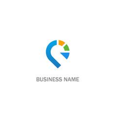 pin gps location abstract logo vector image