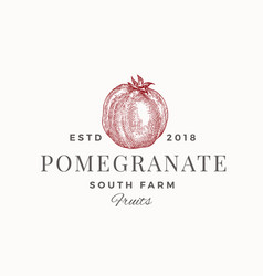pomegranate south farm abstract sign vector image