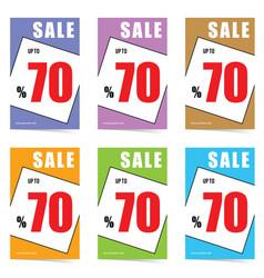 poster of sale 70 percent set in color design vector image
