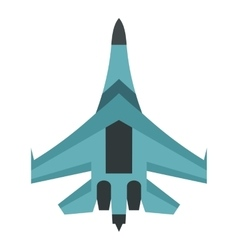Quick military aircraft icon flat style vector image