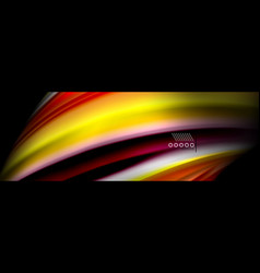 rainbow color fluid wave lines flow poster wave vector image