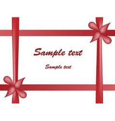 Red bow and tape vector