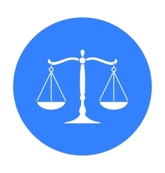 Scales of justice icon in black style isolated on vector