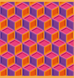 seamless colorful isometric cube pattern vector image