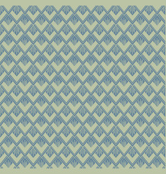 Seamless repeated pattern in green and blue vector
